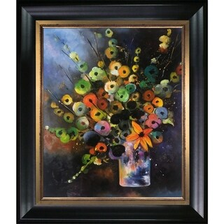 Pol Ledent 'Bunch (451180)' Hand Painted Framed Canvas Art