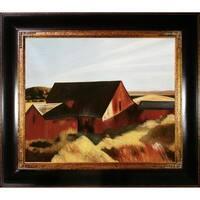 Edward Hopper 'Cobb's Barns, South Truro, 1933' Hand Painted Framed Canvas Art