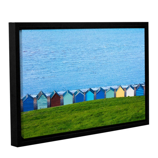 Simon Kayne 'Land And Sea' Gallery Wrapped Floater-framed Canvas