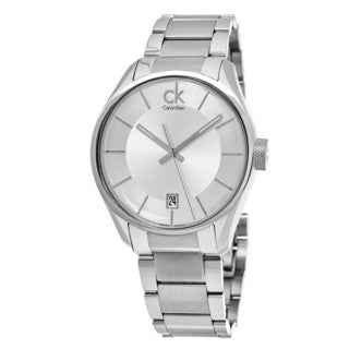 Calvin Klein Men's K2H21126 'Masculine' Silver Dial Stainless Steel Swiss Quartz Watch