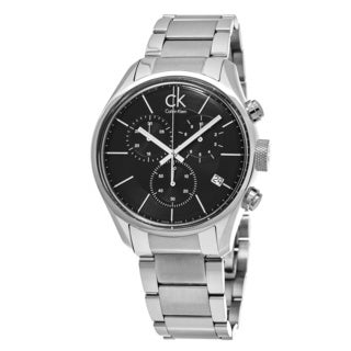 Calvin Klein Men's K2H27104 'Masculine' Black Dial Stainless Steel Chronograph Swiss Quartz Watch