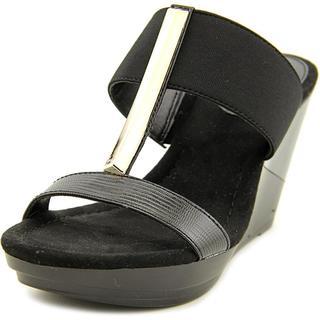 Alfani Women's 'Bainer' Black Synthetic Sandals