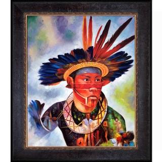 Celito Medeiros 'Native Heritage' Hand Painted Framed Canvas Art