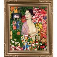 Gustav Klimt 'The Dancer' Hand Painted Framed Canvas Art