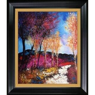 Pol Ledent 'Autumn 6751' Hand Painted Framed Canvas Art