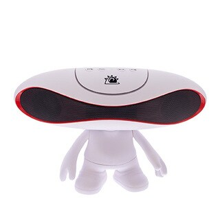 Zunammy White Portable Rugby Doll Alien Wireless 800 MAH Portable Bluetooth Speaker
