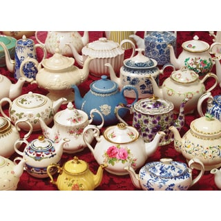 Cobble Hill: Teapots 1000 Piece Jigsaw Puzzle