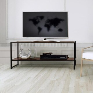 Priage Steel Wood TV Media Stand Table