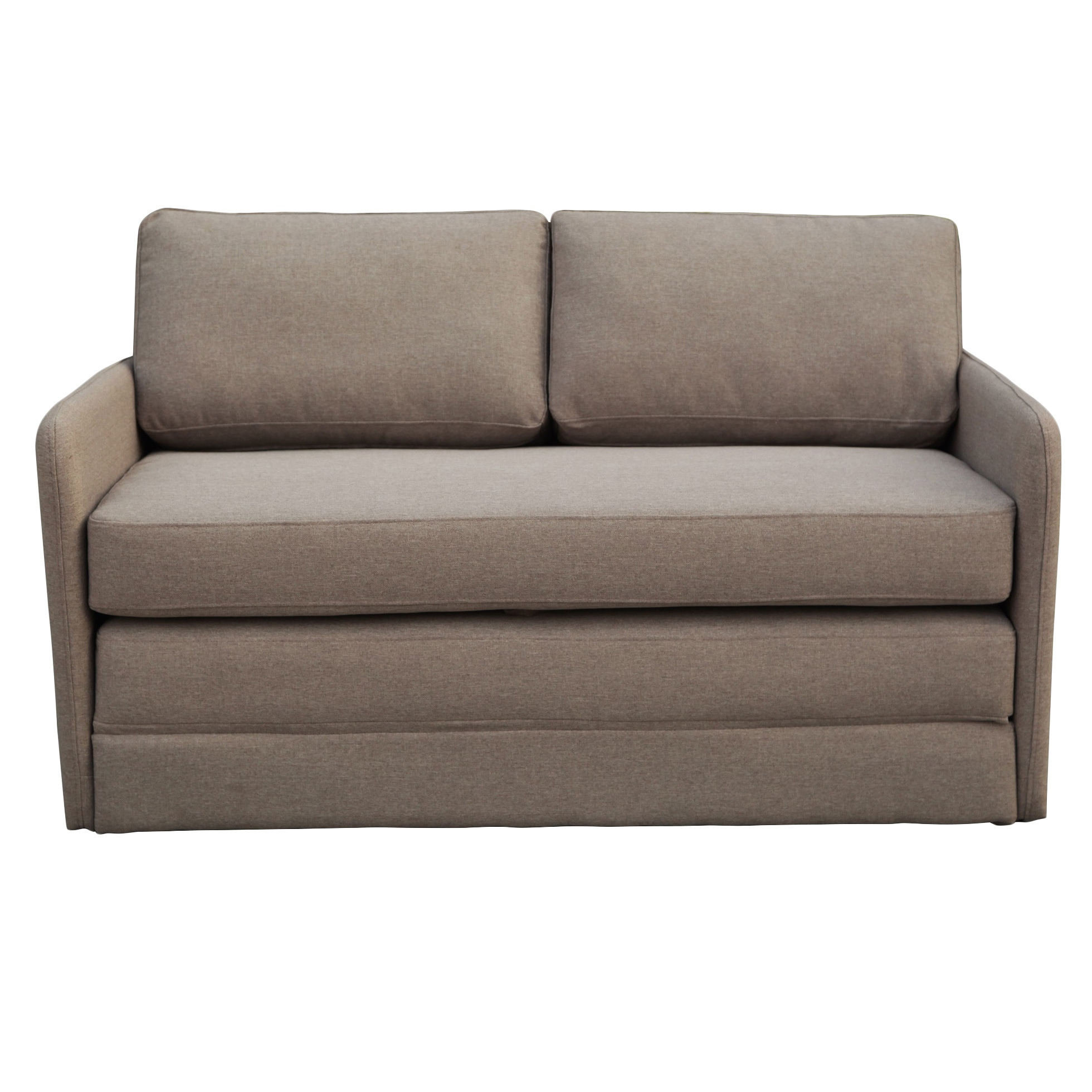 Shop Phillip Taupe Loveseat With Pullout Bed On Sale Overstock 11706636