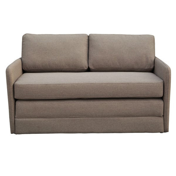 Phillip Taupe Loveseat With Pullout Bed Free Shipping Today 18629716