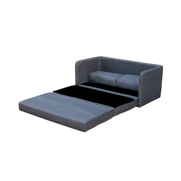 Shop Phillip Dark Grey Loveseat with Pullout Bed - On Sale - Free ...