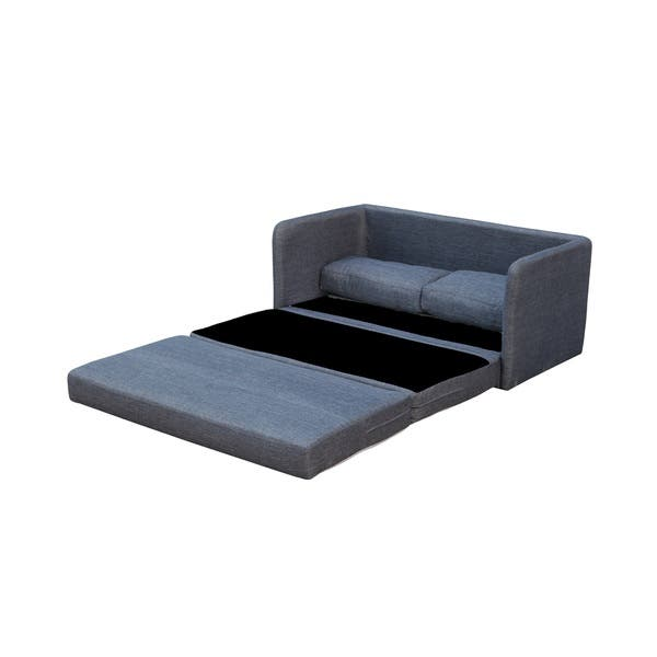 Pleasing Phillip Dark Grey Loveseat With Pullout Bed Theyellowbook Wood Chair Design Ideas Theyellowbookinfo