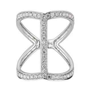 Anika and August 14k White Gold Round Diamond Ring (G-H, I1-I2)