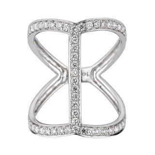 Anika and August 14k White Gold Round Diamond Ring