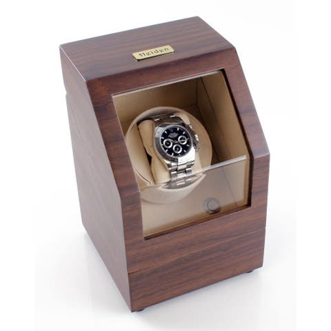 Heiden Walnut Battery Powered Single Watch Winder