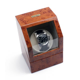 Heiden Burlwood Battery Powered Single Watch Winder