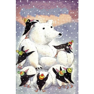 Marmont Hill 'Polar Friends' by Curtis Painting Print on Canvas - Multi-color
