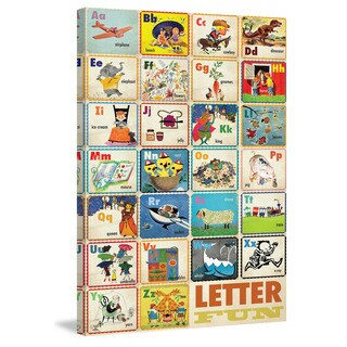 Marmont Hill 'Letter Fun' by Curtis Painting Print on Canvas - Multi-color