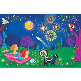 Marmont Hill 'Beautiful Night' by Curtis Painting Print on Canvas - Multi-color