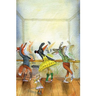 Marmont Hill 'Ballet Lesson' by Curtis Painting Print on Canvas - Multi-color