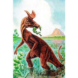 Marmont Hill 'Lambeosaurus' by Curtis Painting Print on Canvas