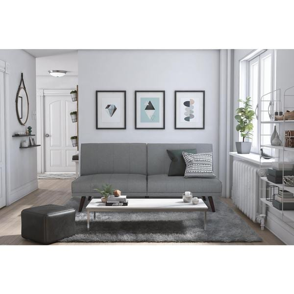 3fbb77b07736 Shop DHP Lone Pine Grey Linen Futon - Free Shipping Today ...
