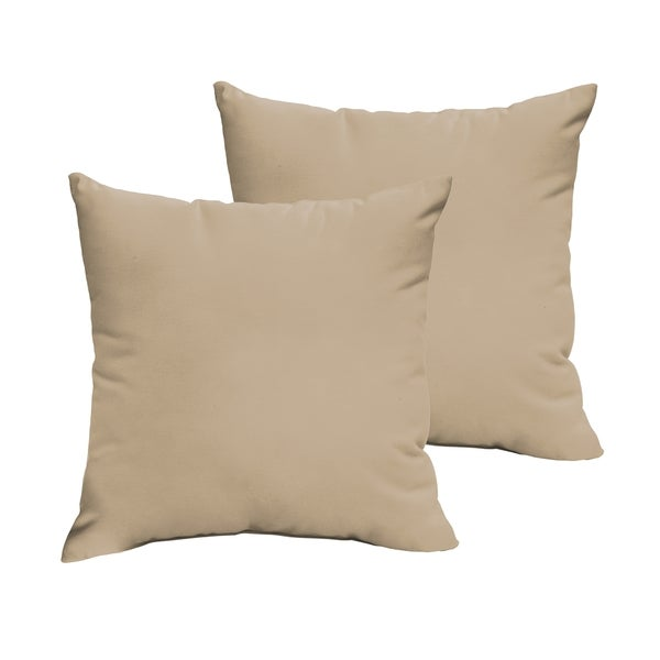 Shop Sloane Beige 22 X 22 Inch Indoor Outdoor Knife Edge Pillow Set