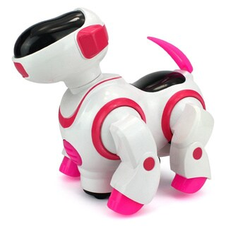 Velocity Toys Robo Dancing Dog Battery Operated Kid's Bump and Go Toy (Pink)