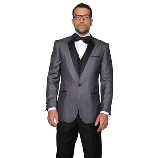 Modena Men's Sharcoal Statement Suit Tuxedo