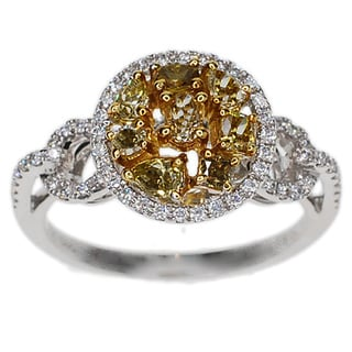 Kabella 18k Two-tone Gold 7/8ct TDW Yellow and White Diamond Ring (G-H, SI1-SI2)