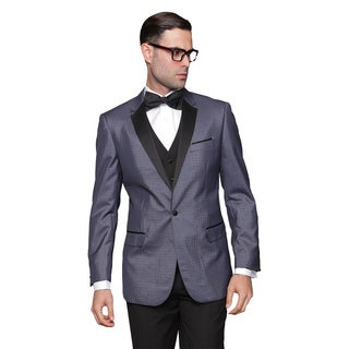 Modena Men's Indigo Statement Suit Tuxedo