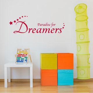 Paradise For Dreamers Wall Decal Vinyl Art Home Decor Quotes and Sayings