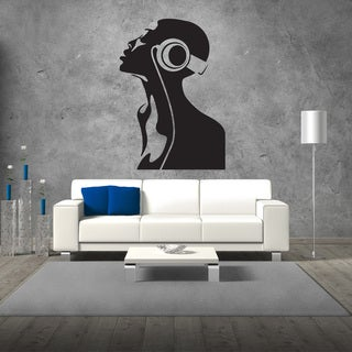 Dj Head Wall Decal Vinyl Art Home Decor