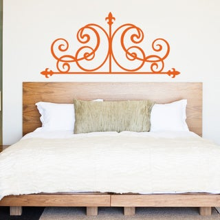 Lilly Bed Headboard Vinyl Art Home Decor Wall Decal
