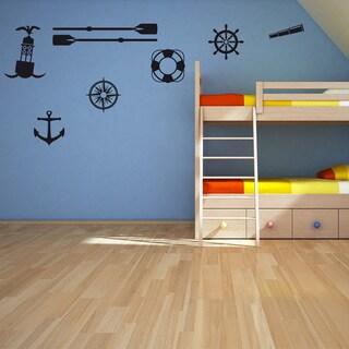 Seafaring Set Wall Decal Vinyl Art Home Decor