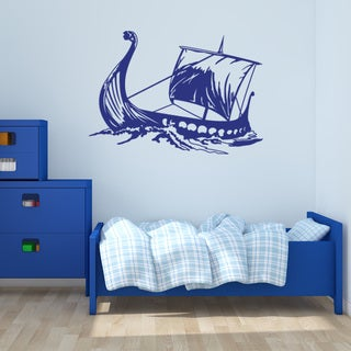 Viking Ship Wall Decal Vinyl Art Home Decor