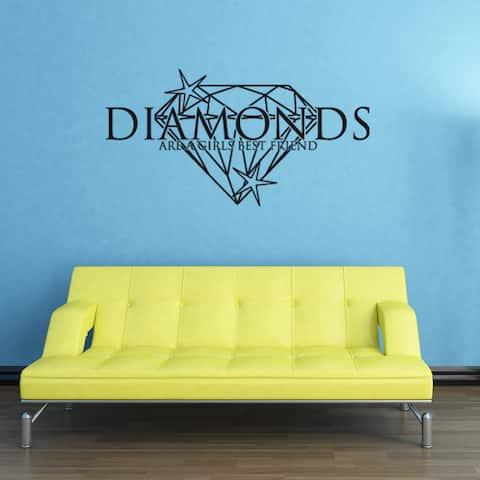 Diamonds Wall Decal Vinyl Art Home Decor