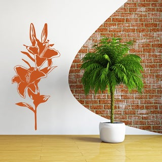 Flourish Lily Wall Decal Vinyl Art Home Decor