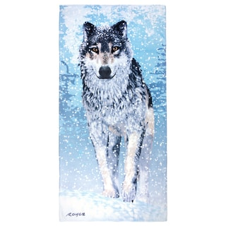 Royce Kaufman Snow Wolf Printed Beach Towel (Set of 2)