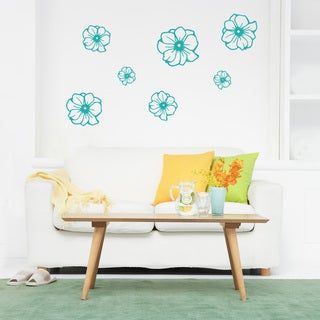 Flowers Wall Decal Vinyl Art Home Decor