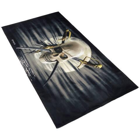 Kaufman Royce Kaufman Patch Skull Printed Beach Towel (Set of 2)