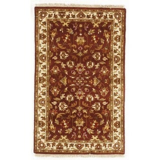 Hand-knotted with Agra Design Area Rug (3' x 5')