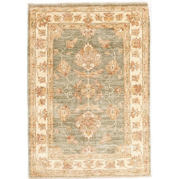 Hand-knotted with Agra Design Area Rug (2' 8 x 3' 10)