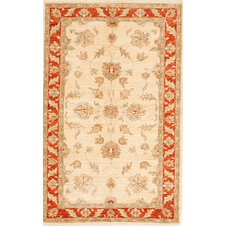Hand-knotted with Agra Design Area Rug (3' 3 x 5')