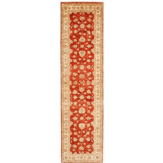 Hand-knotted with Agra Design Runner Rug (2' 6 x 9' 6)