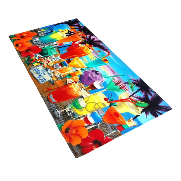 Royce Always Happy Hour Printed Beach Towel by Kaufman (Set of 2)