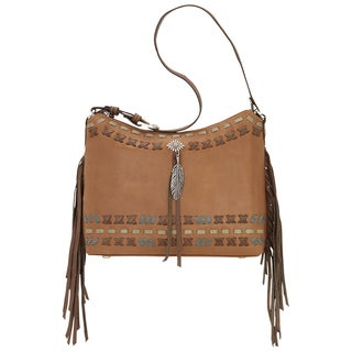 American West 1215181 Handmade Mohican Melody Leather Shoulder Bag