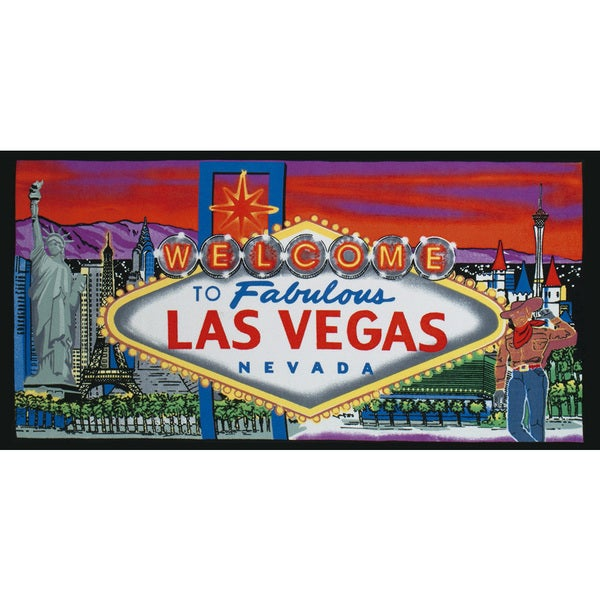 Kaufman Las Vegas Sign Printed Beach Towel Set Of 2