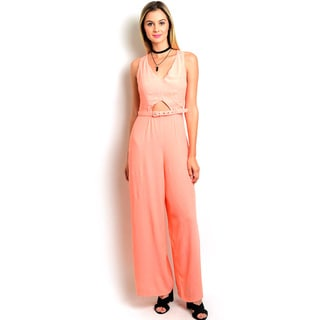 Shop the Trends Women's Sleeveless Woven Jumpsuit