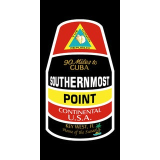 Kaufman Southern Most Point Printed Beach Towel (Set of 2)